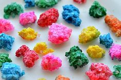 sparkly gems for kids add colored rock salt to  glue