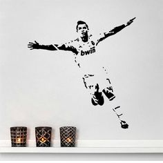 Football figures stickers boy bedroom decoration wall stickers removable stickers