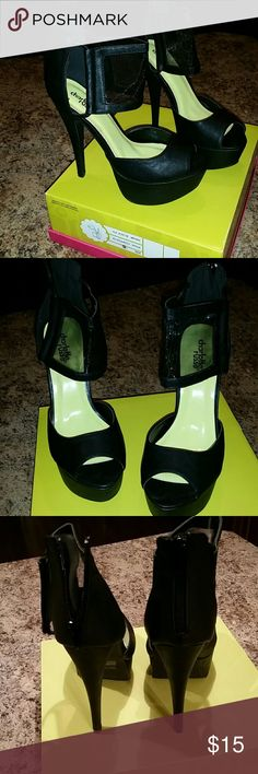 Charlotte Russe black platform heels Excellent condition, worn for about 2 hours. Kept in original box Charlotte Russe Shoes Platforms