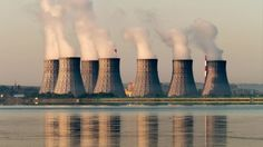 Nuclear Power Plant Lake View #Atomic, #Cooling, #Electricity, #Energy, #Environment, #Factory, #Industry, #Nuclear, #Plant, #Pollution, #PoluTsvet, #Power, #Smoke, #Station, #Steam, #Tower http://goo.gl/vRlJRb