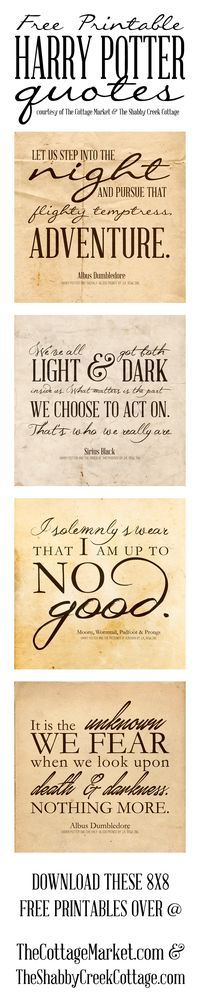 Free Printable Harry Potter Quotes