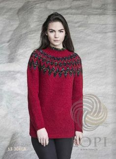 - Icelandic Jökla Women Wool Sweater Red - Tailor Made - Nordic Store Icelandic Wool Sweaters  - 1