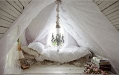 It's funny how attics can reinforce my belief in fairytales.