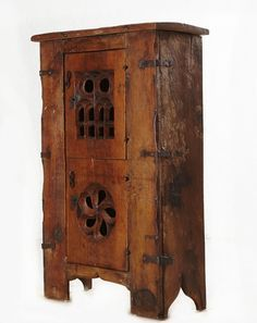 "Gothic cupboard or ""aumbry"" in walnut. half of the C - Antique Furniture Style Middle age Medieval Furniture, Gothic Furniture, Deco Furniture, Furniture Styles, Rustic Furniture, Antique Furniture, Furniture Design, Camping Furniture, Gothic House"