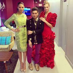 Philippines top model Ria Bolivar wearing #gakuya by Kim Gan at The Morning Show, toronto Canada together with the CPFW founder Jeff Rustia
