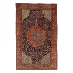 "Antique Feraghan Wool Rug - 13'10""x24'"