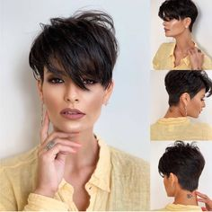 Stylish Short Haircuts, Short Haircut Styles, Short Pixie Haircuts, Pixie Hairstyles, Asymmetrical Haircuts, Short Hair Cuts For Women, Edgy Short Hair, Medium Short Hair, Sassy Hair
