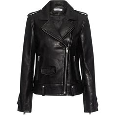 Iro - Dumont Ruffled Leather Jacket ($1,518) ❤ liked on Polyvore featuring outerwear, jackets, real leather jackets, genuine leather jackets, iro jacket, cropped jackets and ruffle jacket