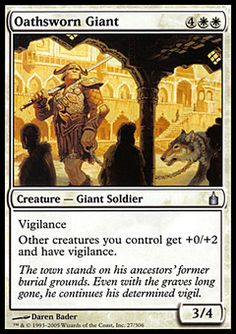 Oathsworn Giant - Creature - Giant Soldier - Sun - White - Ravnica - Magic The Gathering Trading Card