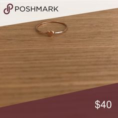 Catbird rose gold heart ring Rose gold heart ring from Catbird in Brooklyn, size 8 Jewelry Rings