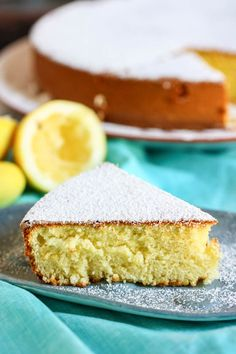 Lemon olive oil cake (it looks like an easy recipe too!!) I'm going to make this today but with Limes