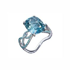 AENEA Jewellery - Ring Blue Sapphire - Blue sapphire untreated), Paraiba tourmalines and white diamonds handcrafted in platinum Jewelry Rings, Jewellery, Blue Sapphire Rings, White Diamonds, Spring Time, Rose Gold, Gemstones, Sterling Silver, Jewels