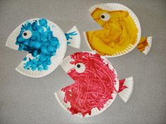 Paper plate fish.. Use as summer craft or with Fish Bulletin Board! ...Learning is cool, here at our school!