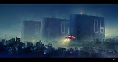 """Cityscape 1"" by #DmitriyKuzin. #scifi #sciencefiction #cityscape"