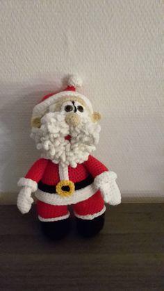 kerstman gehaakt