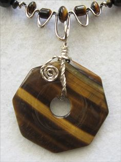 Golden Yellow Tigers Eye Necklace & Pendant Set - pinned by pin4etsy.com