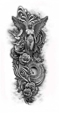 How you can maximise your perception of arm tattoo Full Sleeve Tattoos, Sleeve Tattoos For Women, Leg Tattoos, Body Art Tattoos, Tattoos For Guys, Angel Tattoo For Women, Tattooed Guys, Tattoos Skull, Fake Tattoos