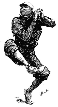 Baseball illustration by E. W. Kemble from the Dave Thomson collection. Kemble was the artist who illustrated the first edition of ADVENTURES OF HUCKLEBERRY FINN