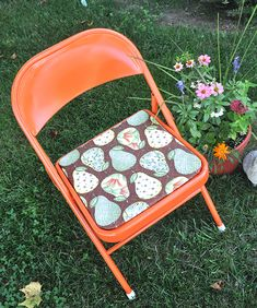 Fabulous Metal Folding Chair Makeover