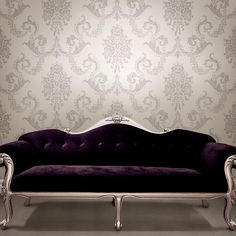 "Buckingham Chambers Floral 33' x 20.5"" Damask Embossed Wallpaper"