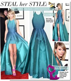 """Steal her Style-Taylor Swift In Elie Saab – 2015 Grammy Awards"" by kusja ❤ liked on Polyvore"