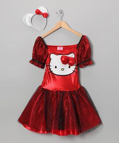 Take a look at this Red Sequin Hello Kitty Dress-Up Outfit - Girls on zulily today!