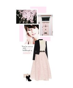 """""""Lovely Lace Dress"""" by onemonday ❤ liked on Polyvore featuring Phase Eight, BERNA, Giuseppe Zanotti, Giambattista Valli, Spring, lacedress and softpink"""