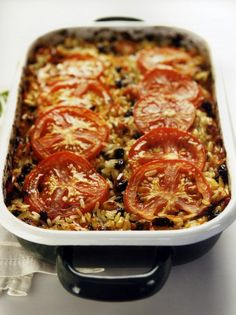 Just the stuffing, because some don't like the mushy… Greek Recipes, Vegan Recipes, Cooking Recipes, Cypriot Food, Greek Dinners, True Food, Greek Cooking, Risotto Recipes, Mediterranean Recipes