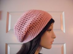 Light Pink Slouchy Beanie, Teens Slouchy, Womens Slouchy, Pink Slouchy Beanie, Pink Hats, Winter Hats, Fall Hats, Beanies, Hippie, Boho Chic by MarlowsGiftCottage on Etsy