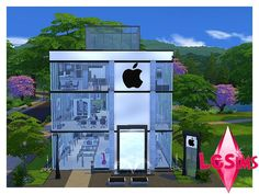 Welcome to your neighborhood Apple Store! This is the perfect retail lot for those sims that want to get rich quick! It has everything that you need in great supply. This beautiful lot also has a...