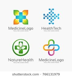 Medical logo icons set. Icons for medicine, healthcare, pharmacy, veterinarian, dentist.