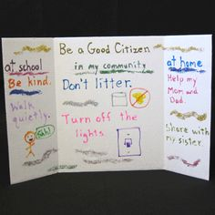 This project would be a good way to assess learning of the content learned in the Community Unit. Students can make their own posters displaying ways they believe they can be good community helpers.
