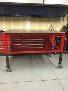 Adjustable welding/shop table - The Garage Journal Board Welding Bench, Welding Cart, Welding Shop, Welding Jobs, Diy Welding, Metal Projects, Welding Projects, Welding Ideas, Diy Projects