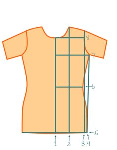 How-To: Basic Fitted T-Shirt  Don't wear a boxy t-shirt!  We easily lose our shape and just look bigger.  A slightly fitted t-shirt is what we want.