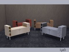 Sims 4 Objects New Meshes - 'dresser'