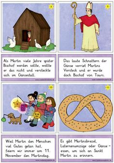 neue-lesekarten-zu-sankt-martin - Zaubereinmaleins - DesignBlog Hl Martin, German Festival, Kindergarten Portfolio, Jesus Is Life, German Grammar, Learn German, Merry Christmas And Happy New Year, Card Reading, Martin Luther