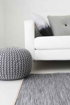 Via Ale Besso | Grey and White | IKEA Karlstad | HAY Dot Pillow
