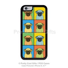 Pug iPhone 6 Case - TPU/PC rubber bumper cover Cartoon Pop-Art .   Available on Ebay.  Love it!