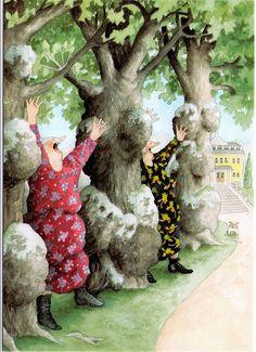 inge look between trees by jaybeepostcards, Awesome grannies by Inge Look.
