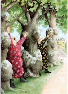 inge look between trees by jaybeepostcards, Awesome grannies by Inge Look.
