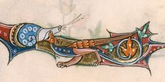 Gorleston Psalter BLL_Add49622_f200r_d On f. 200r, lower marginalia, an interesting scene is shown. He the snail seems to be caught by bird-like creature. The earliest case of snail predation I have seen so far!