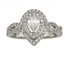 1ct Certified Pear Shape Diamond Engagement Ring in 14k White Gold  https://www.feltnoir.com/1ct-certified-pear-shape-diamond-halo-engagement-ring-in-14k-white-gold-4163.html