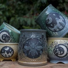 Voice of Nature - hauntedpamplemousse: sosuperawesome: Ceramics. Ceramic Pottery, Ceramic Art, Pottery Mugs, Wicca, Tadelakt, Sgraffito, Cute Mugs, Mug Cup, Tea Party
