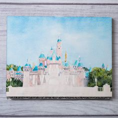 Week 10! Sure wish I could be in Disneyland with all the spring blooms. More little notch details added here and there. .  #wip #watercolor #painting #artistyyc #art #artist #debbiewongart  #creative #instagram #disneyland #disney #sleepingbeautycastle #architecture by debbiewongdesign