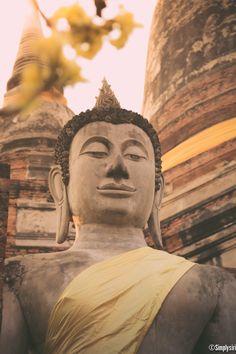 Buddha @ Wat Yai Chaimongkol, Ayutthaya, Thailand