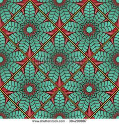 Mosaic pattern of lotus mandala. Endless texture for print, wallpaper,wrapping, tablecloth, carpet, spring/summer fashion fabric.