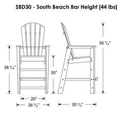 POLYWOOD+South+Beach+Bar+Chair, polywood-furniture.com $419.99