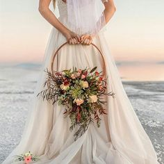 Swap your bridal bouquet for a floral hoop as a fun, alternative idea for your wedding flowers. Diy Wedding Bouquet, Bride Bouquets, Boho Wedding, Table Wedding, Bridesmaid Flowers, Bridal Flowers, Bouquet Flowers, Bridesmaids, Bouquet Succulent