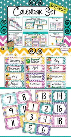 classroom calendar printable