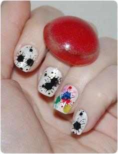 2012 splatter nails - Uñas salpicadas